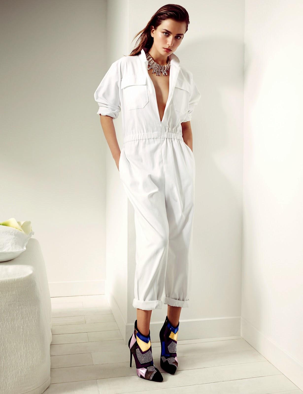 Andreea Diaconu for Giuseppe Zanotti FallWinter 2014-15 Campaign (1)