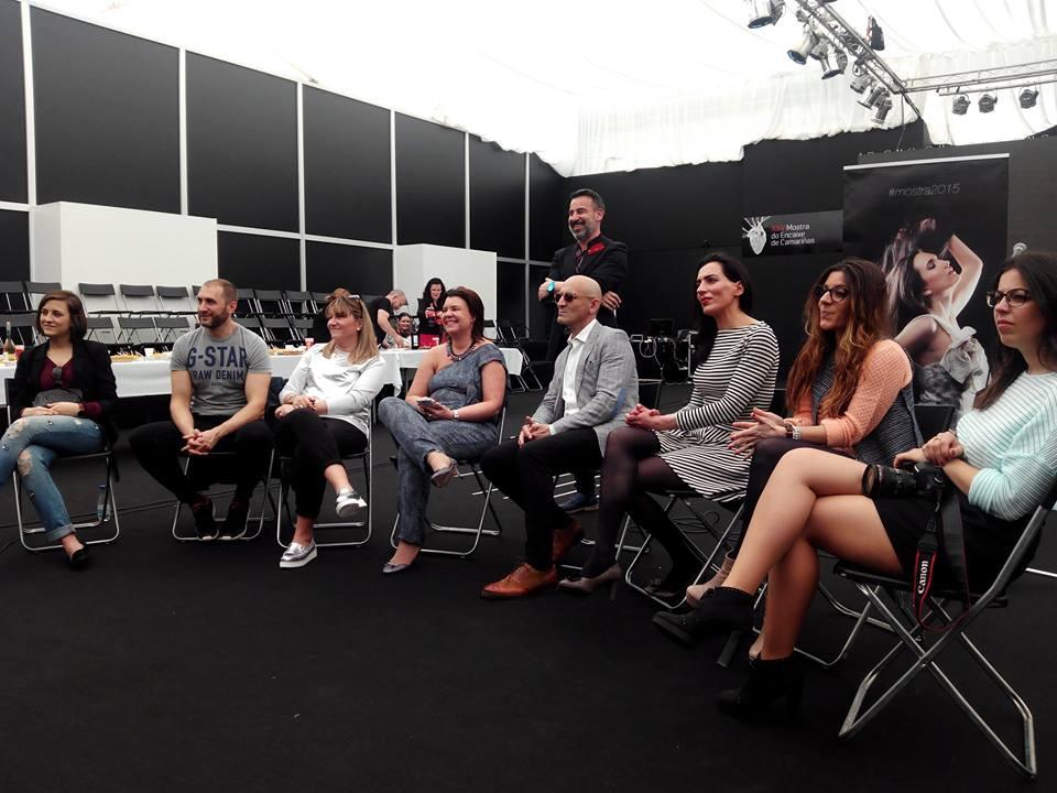 Ayer en el III Encuentro Blogger en #MostraCamarinas2015 con Modesto LOMBA, Franco Quintans, Maximo Arroyo, Renata Pessanha de Menezes, Adriana de  Los maniquís de la boticaria, Cuca Olveira y Denia Priegue